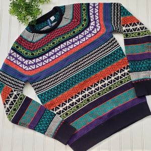 H & M Colorful Stripe Wool Blend Sweater sz Small